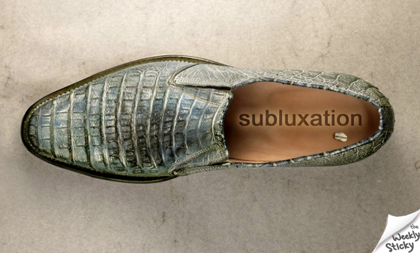 Subluxation in a shoe 2
