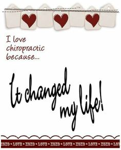 I love chiropractic because....