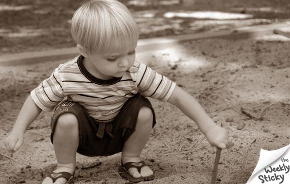 Toddler Squatting