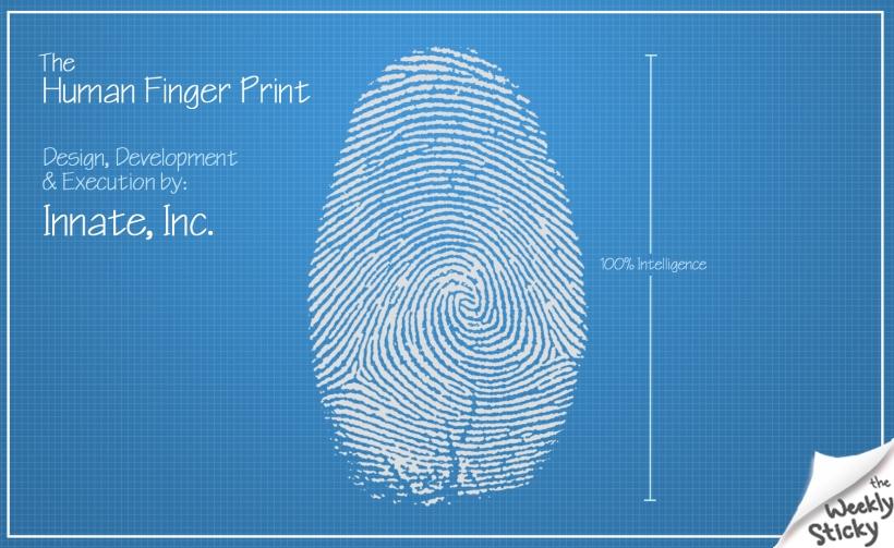 Finger Print Blue Print